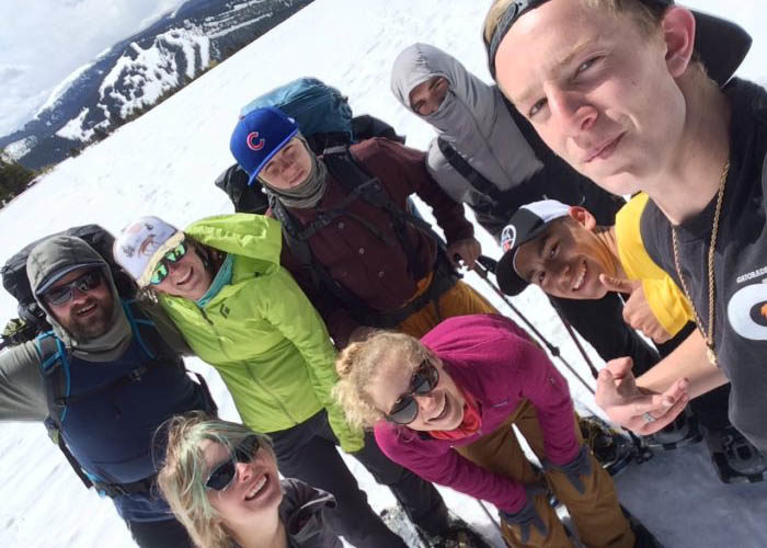 SOS Outreach youth smiling on a backpacking trip