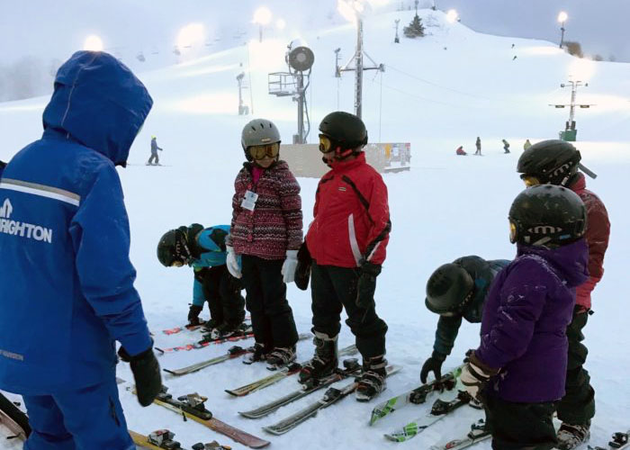 SOS Outreach youth learning to ski at Mt Brighton