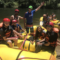SOS Youth on a rafting trip