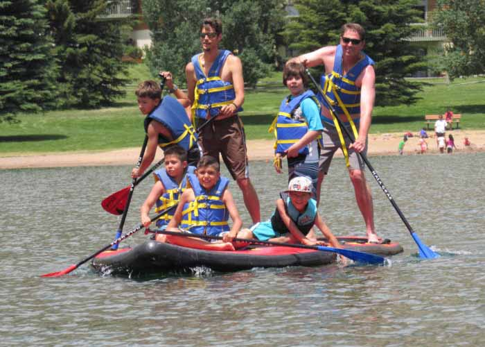 SOS Outreach youth on a rafting trip